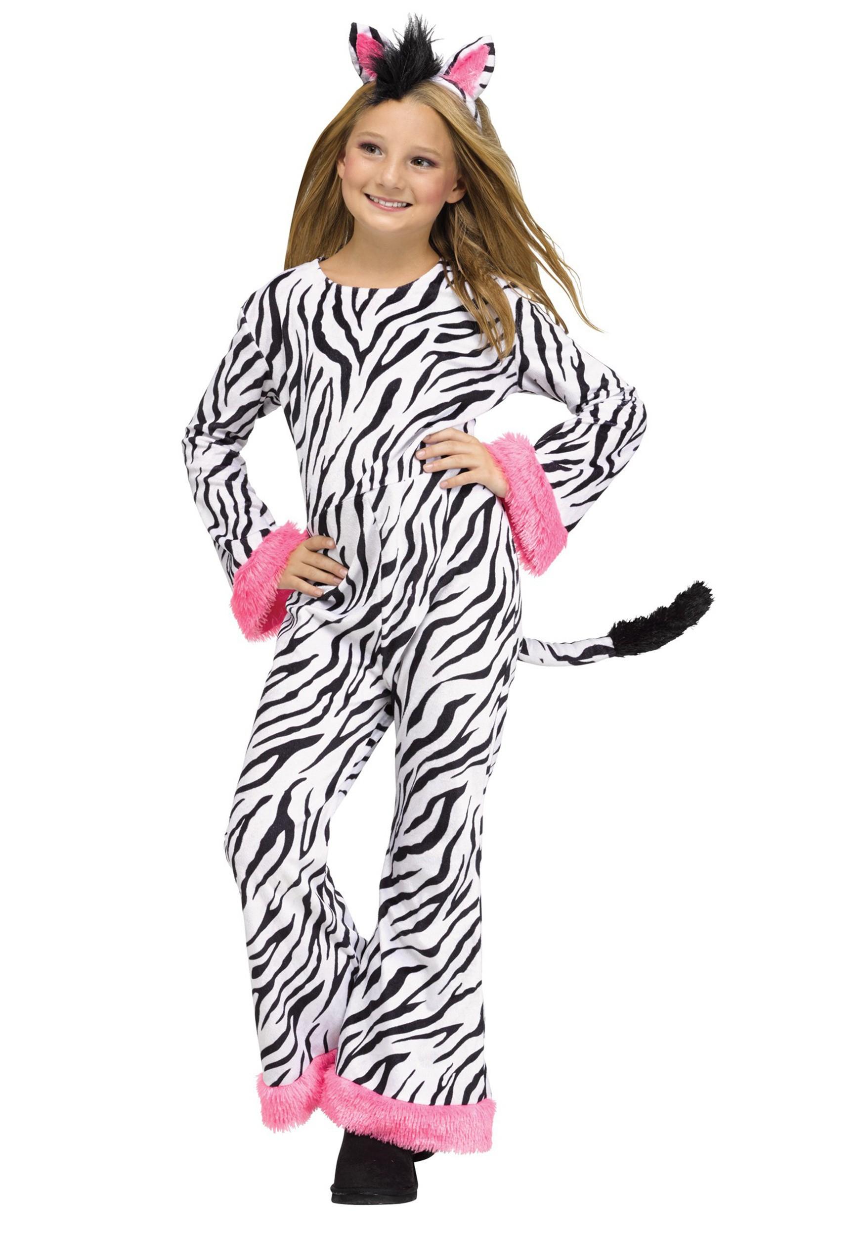 sc 1 st  Halloween Costumes & Girls Zebra Diva Costume