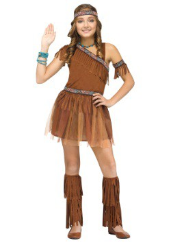 Girls Give Thanks Indian Costume