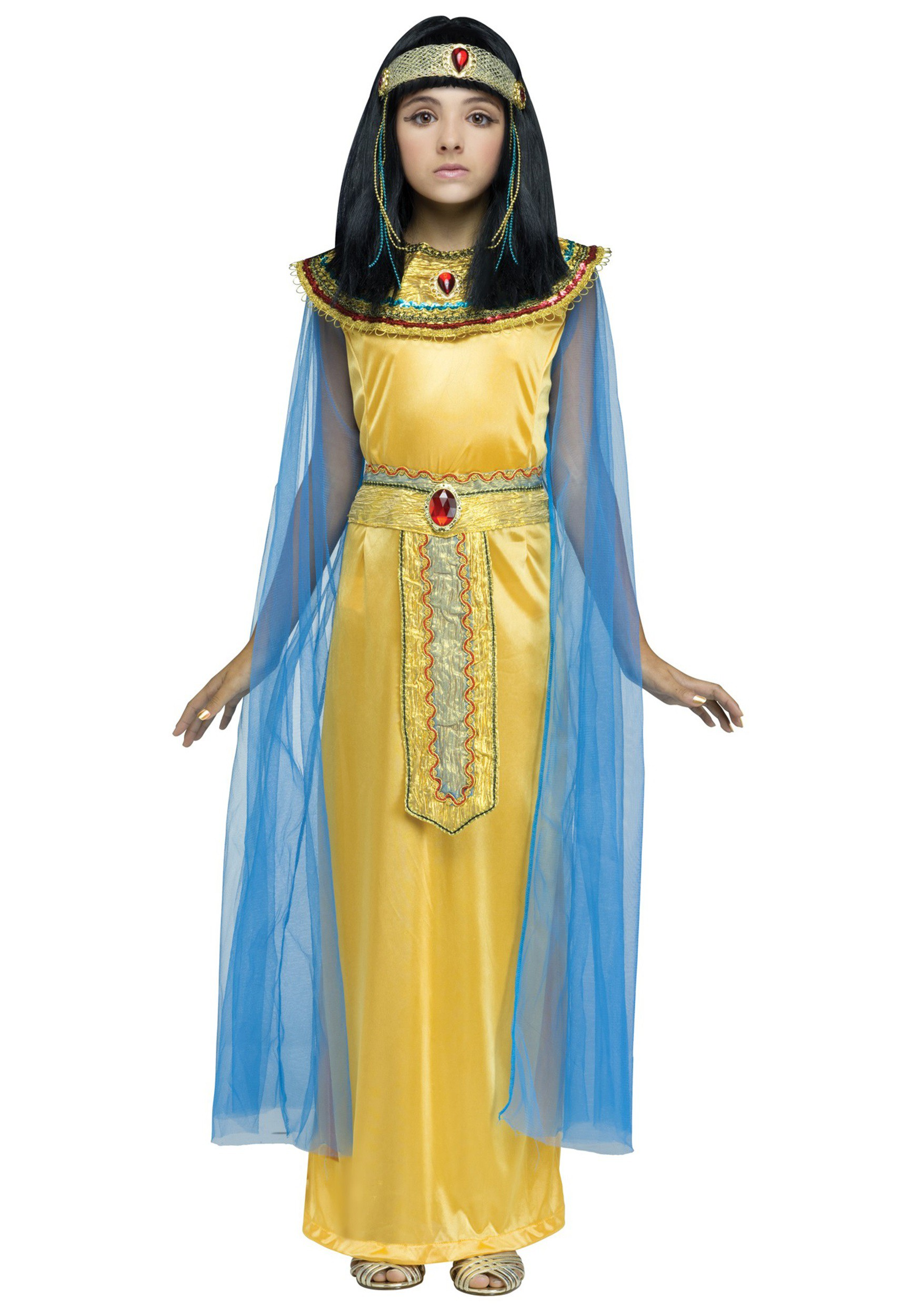 Girls Golden Cleoparta Costume  sc 1 st  Halloween Costumes & Girls Golden Cleopatra Costume