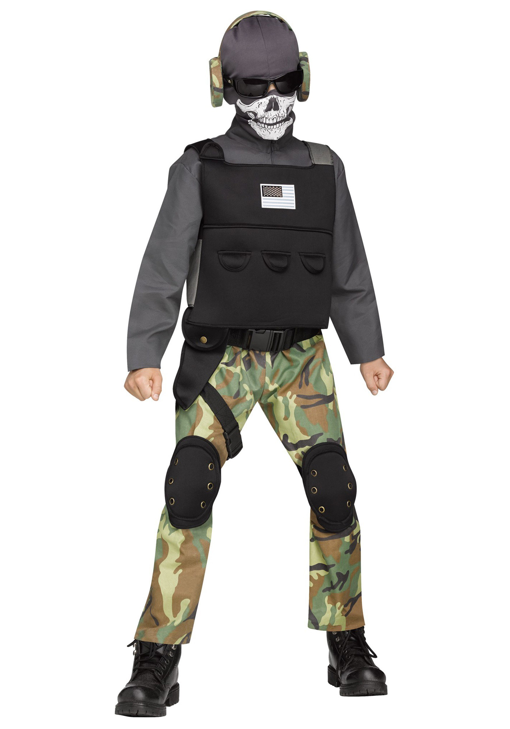 boys skull soldier costume - Halloween Army Costume