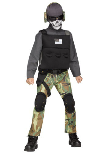Boys Skull Soldier Costume By: Fun World for the 2015 Costume season.