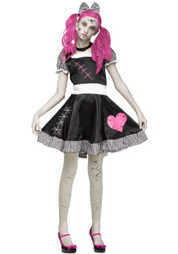 Click Here to buy Teen Scary Broken Doll Costume from HalloweenCostumes, CDN Funds