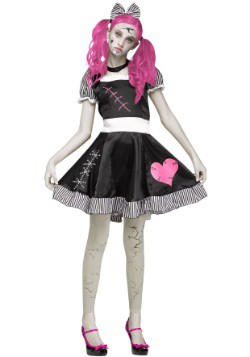 Teen Scary Broken Doll Costume