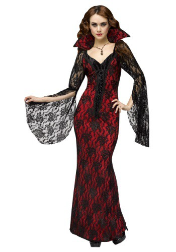 Click Here to buy Womens Elegant Vampiress Costume from HalloweenCostumes, CDN Funds