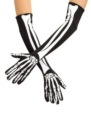 Adult Skeleton Opera Gloves