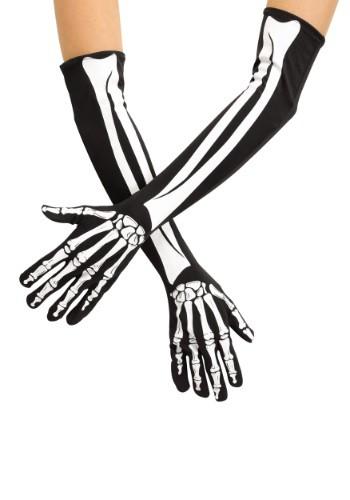 Image of Adult Skeleton Opera Gloves