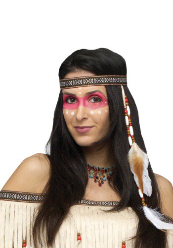 Bead And Feather Native American Headband By: Fun World for the 2015 Costume season.