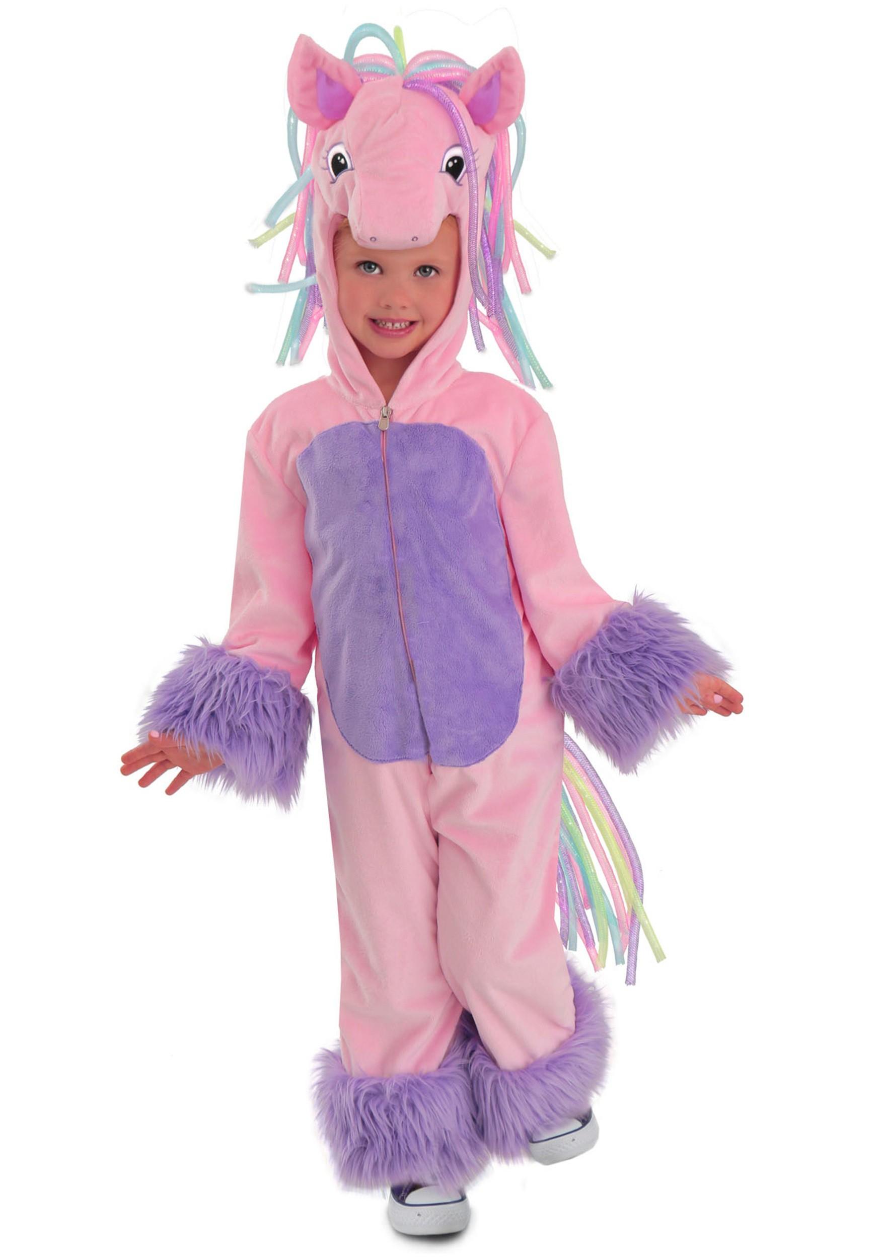 girls rainbow pony costume