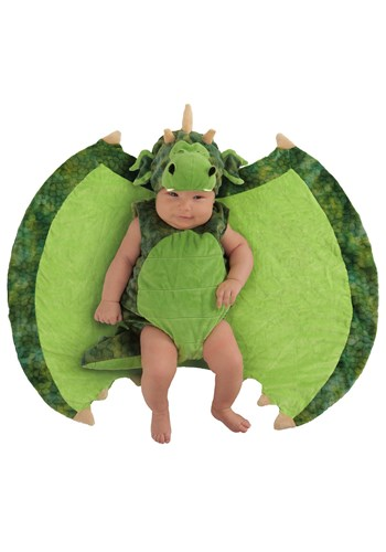 Infant Darling Dragon Swaddle Wings Main