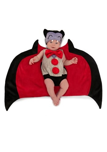 Infant Drooly Dracula Swaddle Costume Open