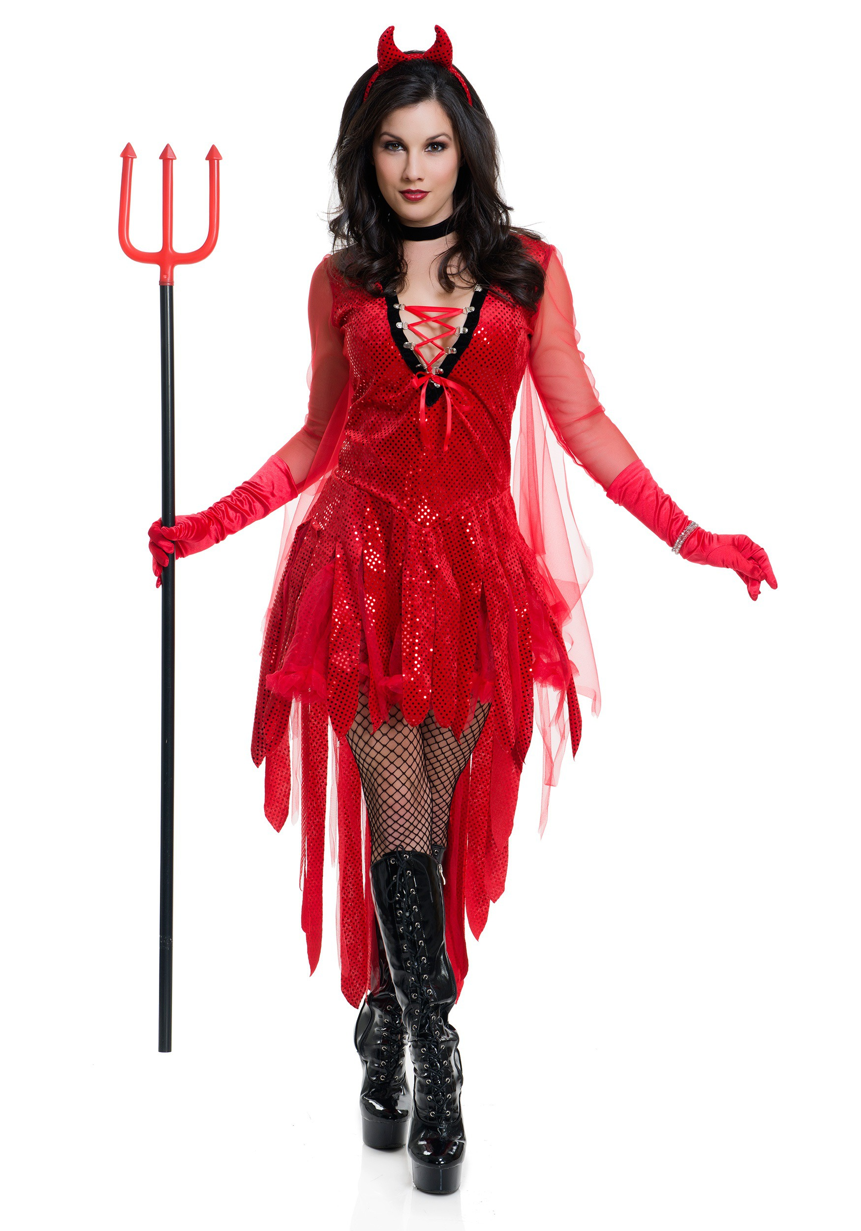 womens sizzling devil costume