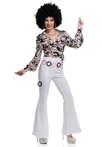 Click Here to buy Womens Paisley Disco Hottie Shirt from HalloweenCostumes, CDN Funds