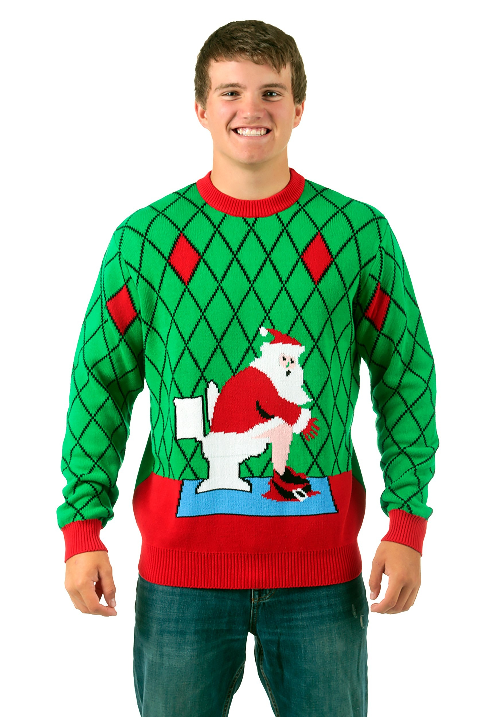 toilet santa ugly christmas sweater - Shark Christmas Sweater