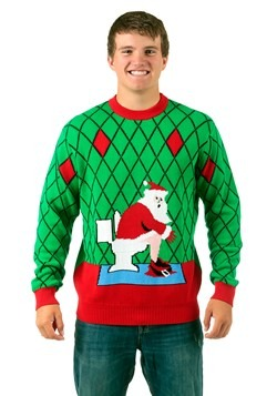 toilet santa ugly christmas sweater 3999