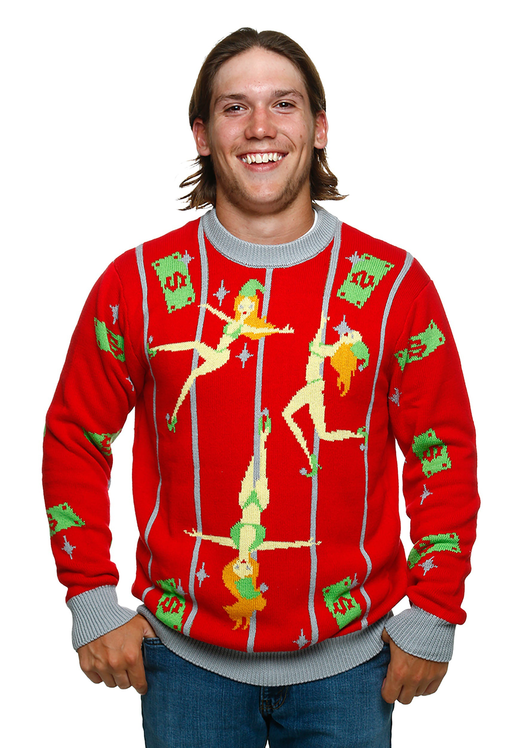 pole dancing elves ugly christmas sweater - Ugly Christmas Sweater Elf