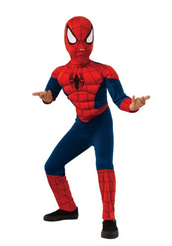 Click Here to buy Kids Ultimate Spider-Man Costume from HalloweenCostumes, USA Funds & Shipping