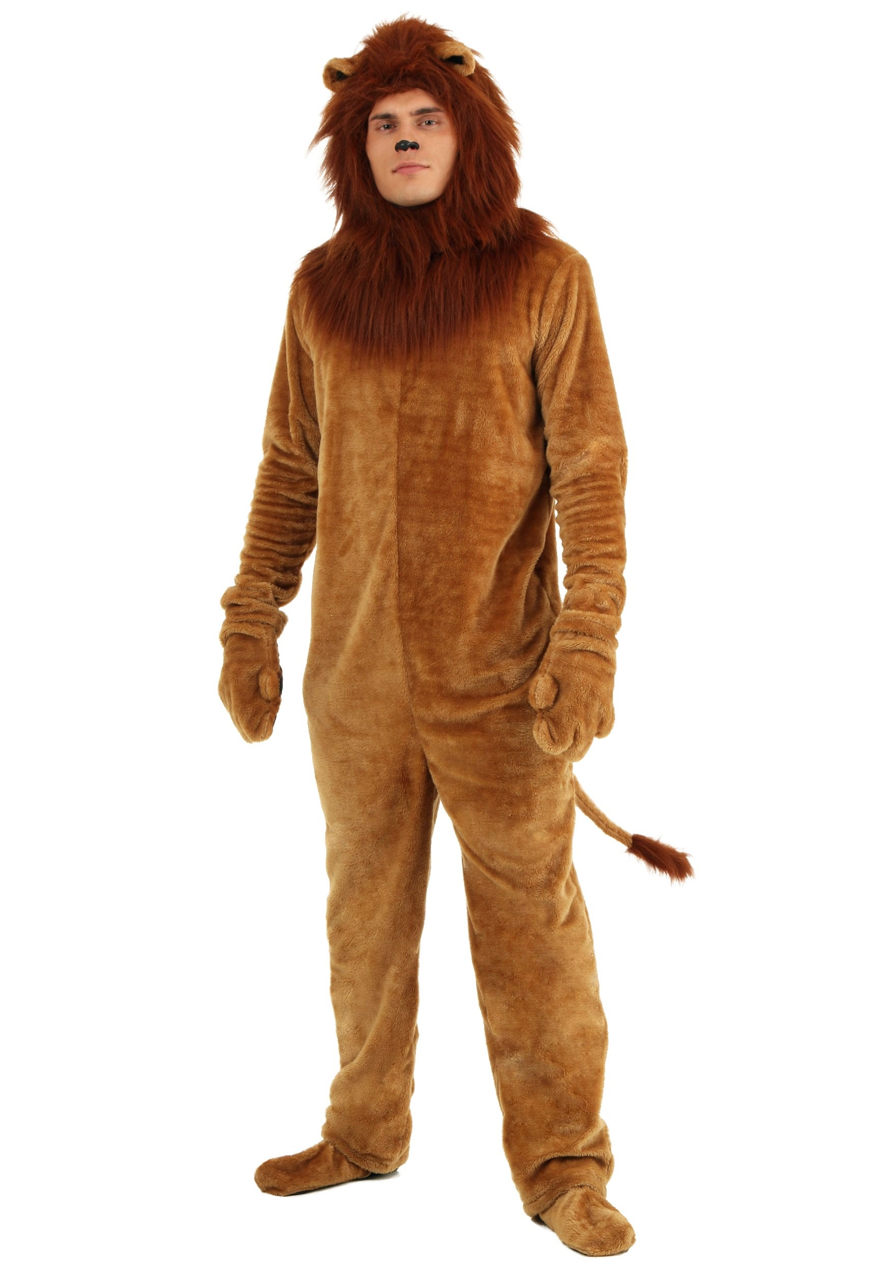 Animal costumes for adults kids halloweencostumes adult deluxe lion costume solutioingenieria Image collections