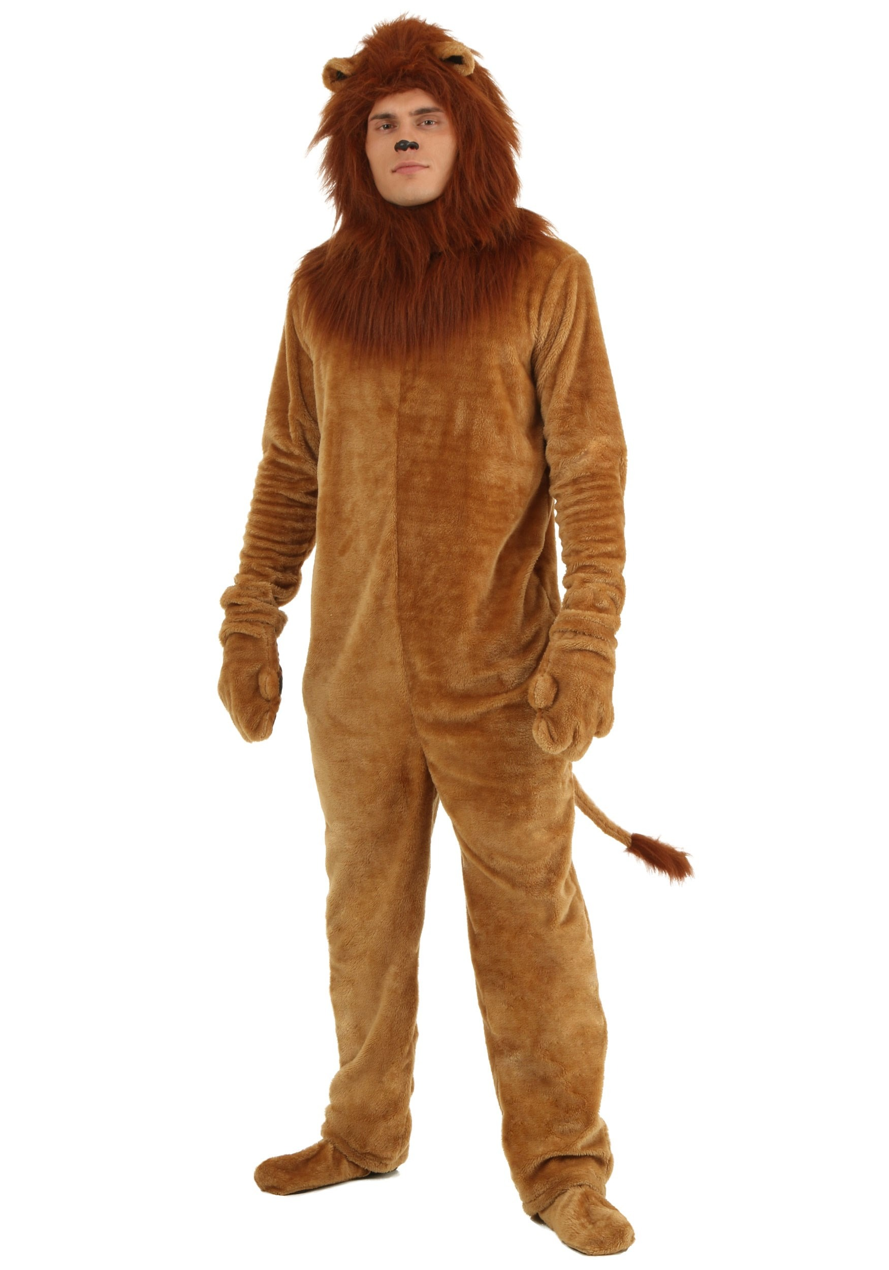 Plus size mens costumes adult plus size halloween costumes for men plus deluxe lion costume solutioingenieria Images
