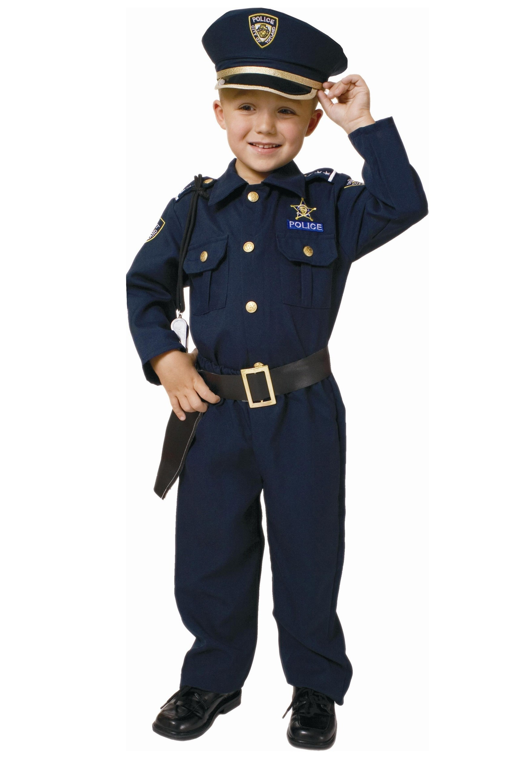 sc 1 st  Halloween Costumes & Toddler Deluxe Police Officer Costume