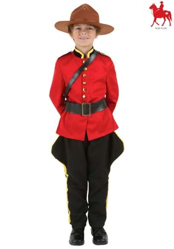 Child Canadian Mountie Costume Logo Update
