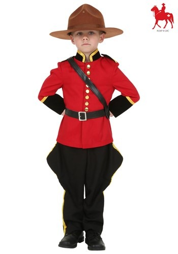 Toddler Canadian Mountie Costume Logo Update