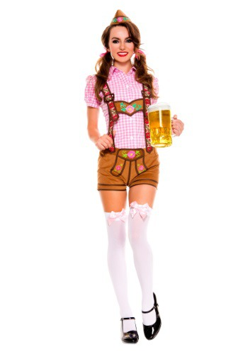 Womens Lederhosen Beer Babe Costume