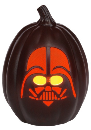 Click Here to buy Star Wars 12  Darth Vader Face Light-Up Pumpkin from HalloweenCostumes, CDN Funds
