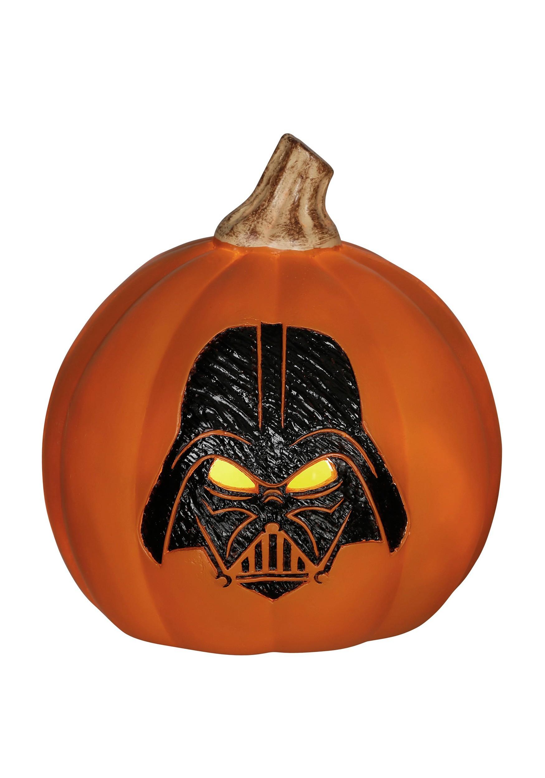 star wars darth vader light up orange pumpkinstar wars darth vader light up orange pumpkin jpg