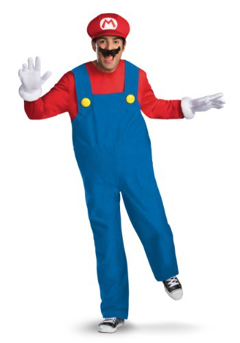 Click Here to buy Mens Deluxe Mario Costume from HalloweenCostumes, CDN Funds