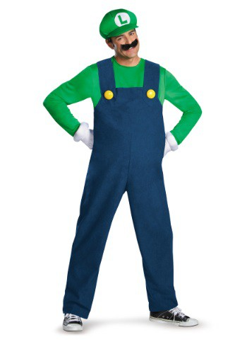 Click Here to buy Mens Deluxe Luigi Costume from HalloweenCostumes, USA Funds & Shipping