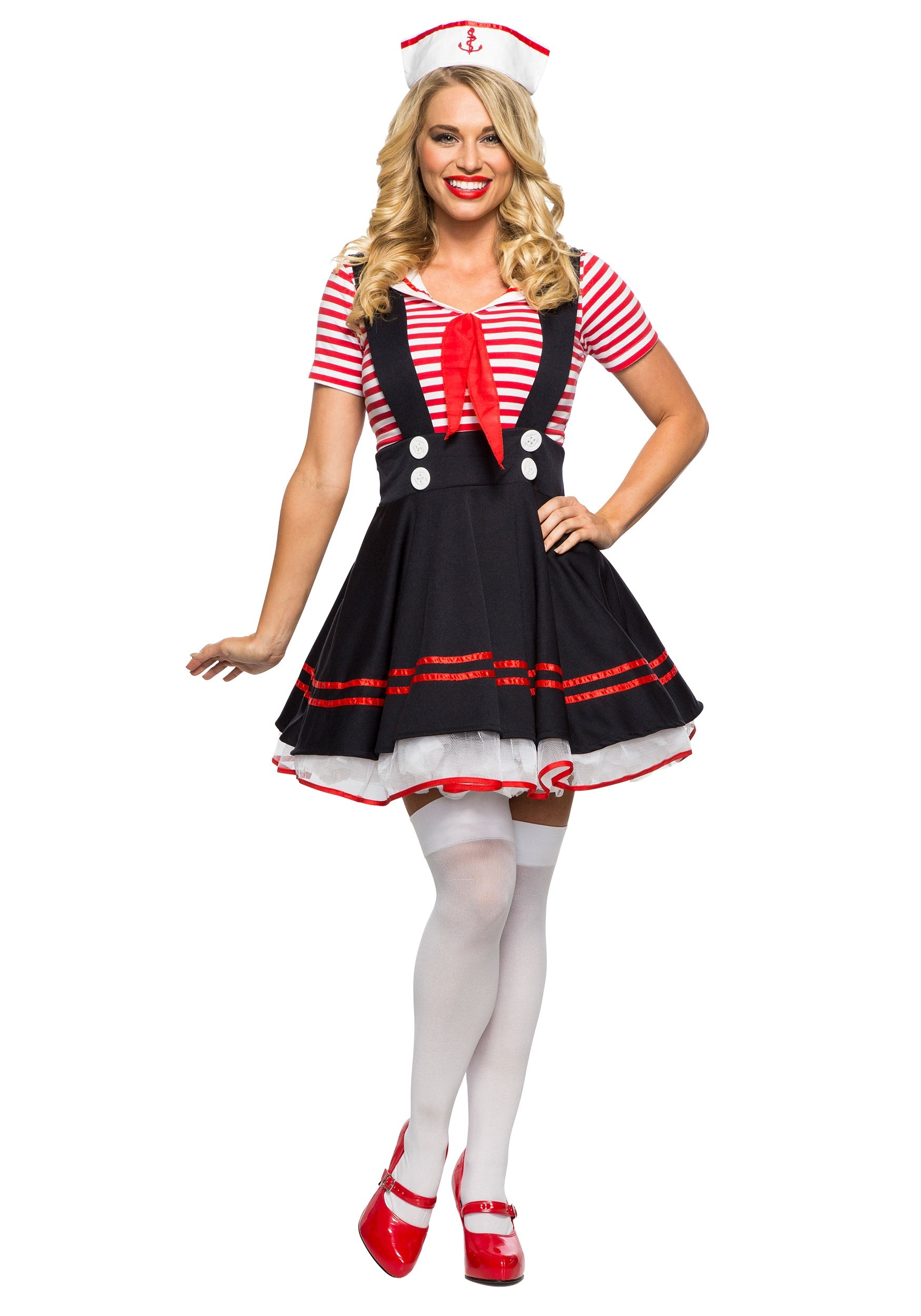 sc 1 st  Halloween Costumes & Womenu0027s Retro Sailor Girl Costume