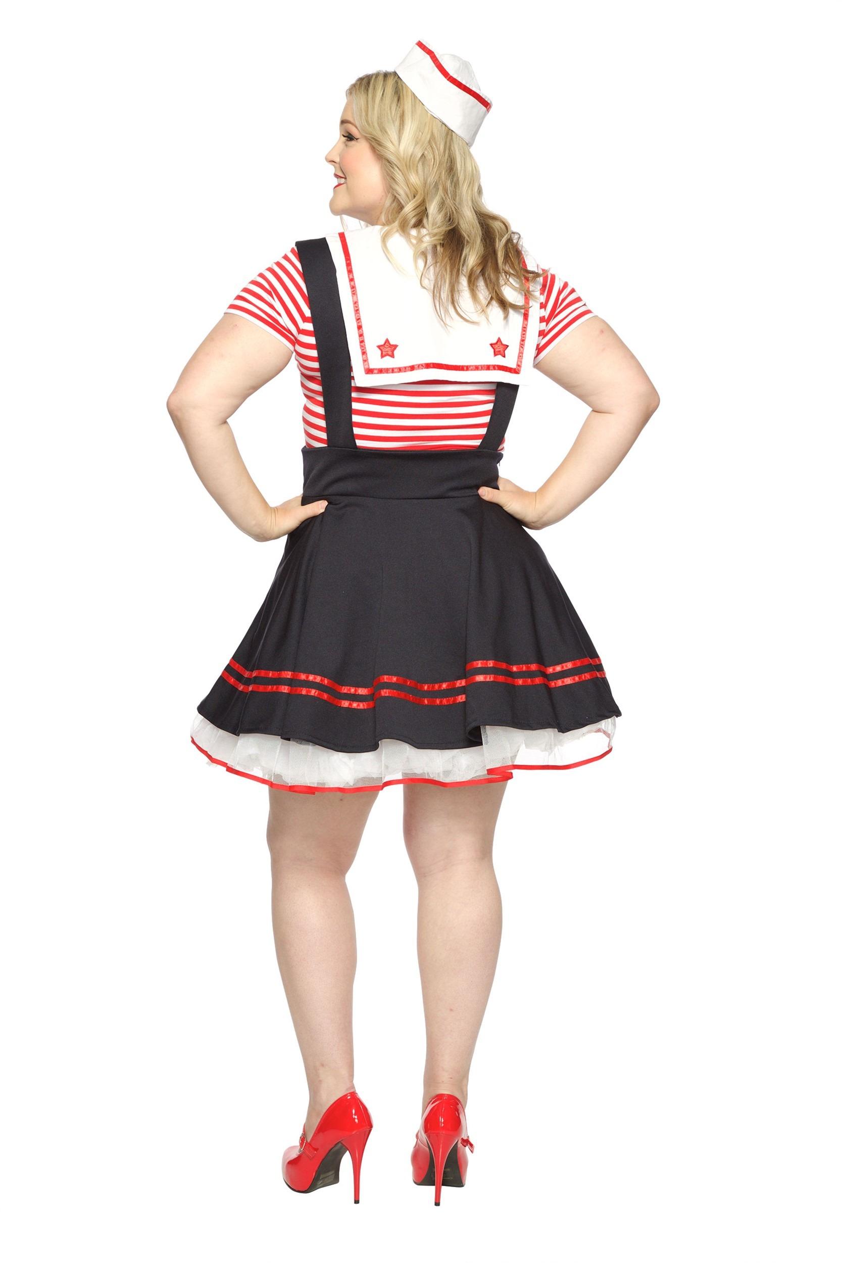 457acd87eca8e ... Update Main Women s Plus Size Retro Sailor Girl Costume ALt1