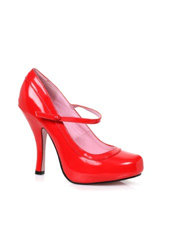 Click Here to buy Womens Red Baby Doll Heels from HalloweenCostumes, CDN Funds