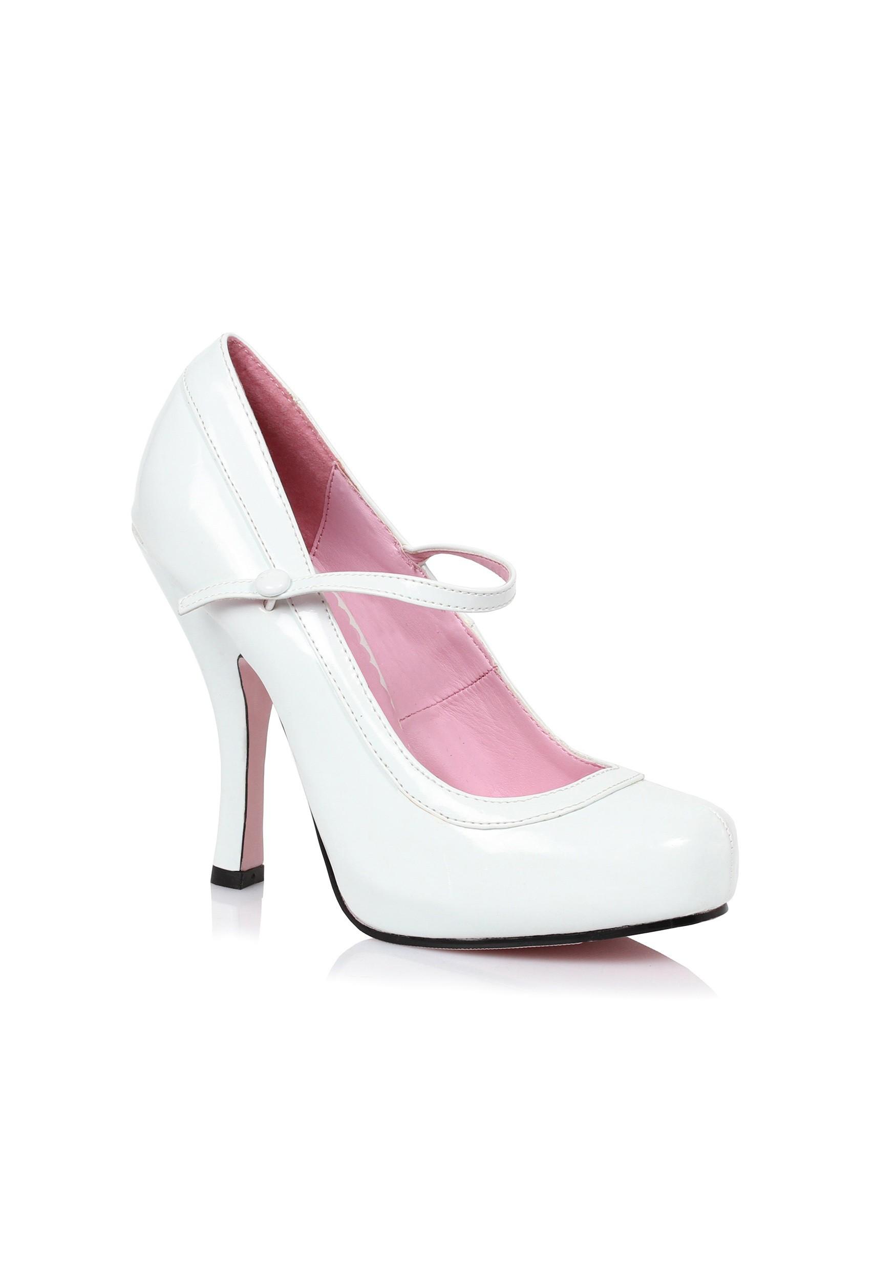 Women s White Baby Doll Heels