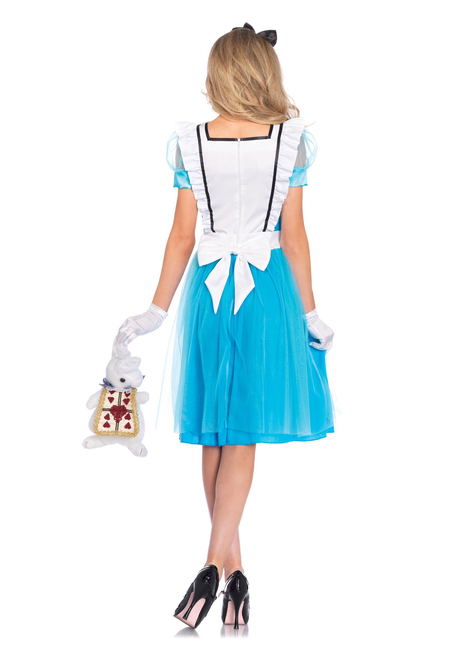 womens classic alice tea length costume womens classic alice tea length costume alt1 - Classic Womens Halloween Costumes