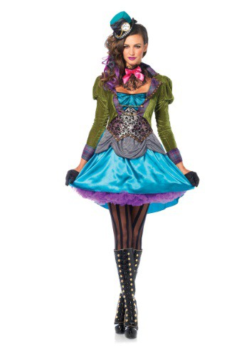 Click Here to buy Deluxe Mad Hatter Womens Costume from HalloweenCostumes, USA Funds & Shipping
