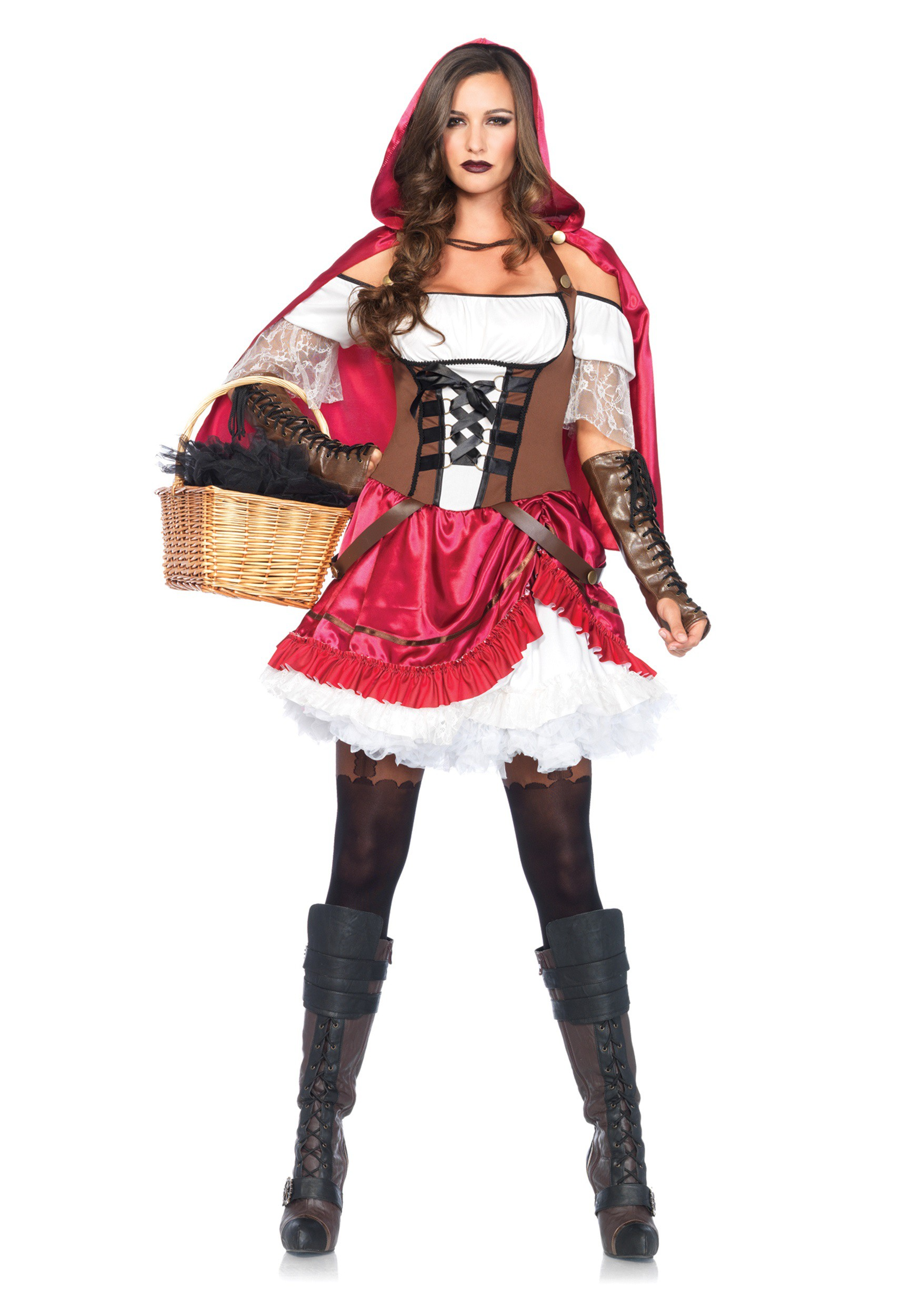 women 39 s rebel red riding hood costume. Black Bedroom Furniture Sets. Home Design Ideas