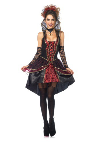 Click Here to buy Womens Vampire Queen Costume from HalloweenCostumes, USA Funds & Shipping