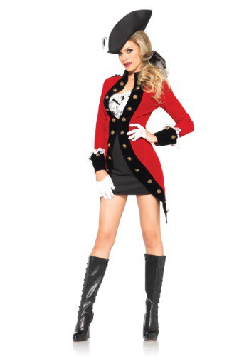 Click Here to buy Womens Rebel Red Coat Costume from HalloweenCostumes, USA Funds & Shipping