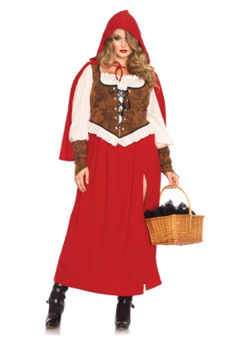 Plus Size Woodland Red Riding Hood Costume