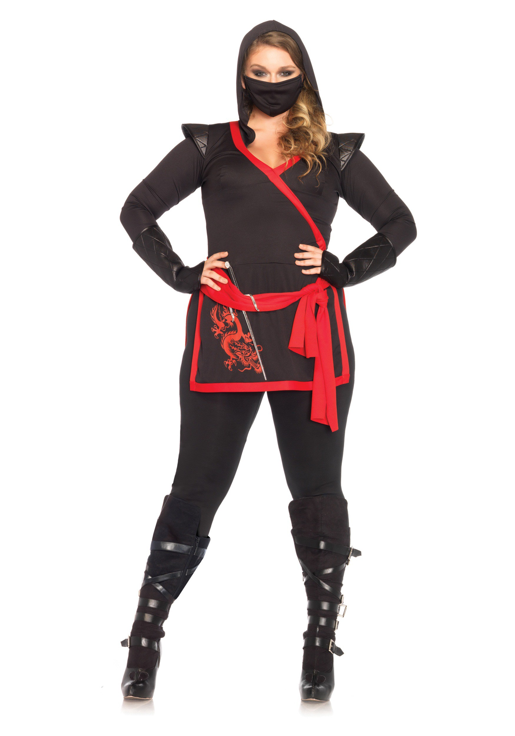 plus size ninja assassin costume. Black Bedroom Furniture Sets. Home Design Ideas