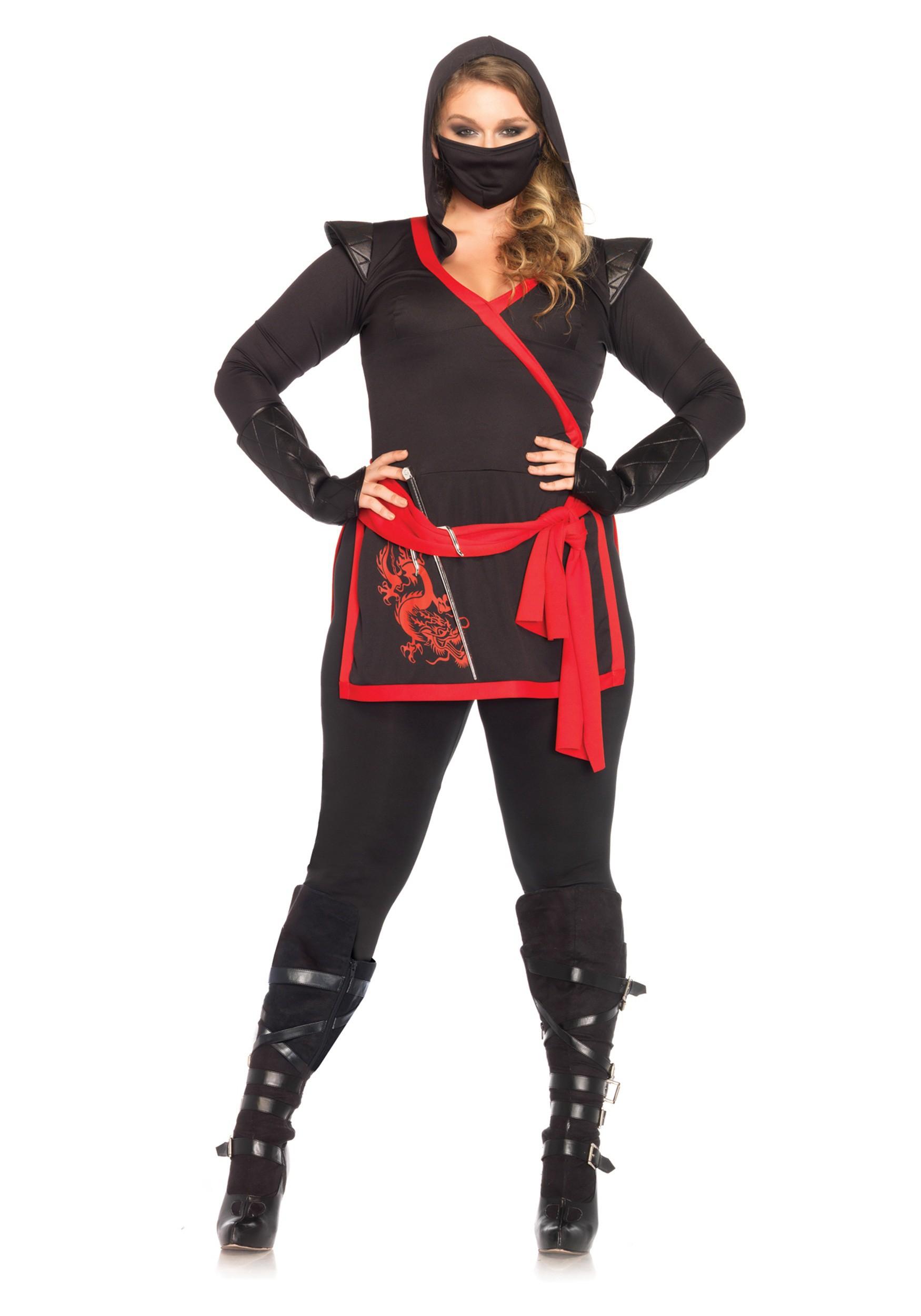 Plus Size Ninja Assassin Costume