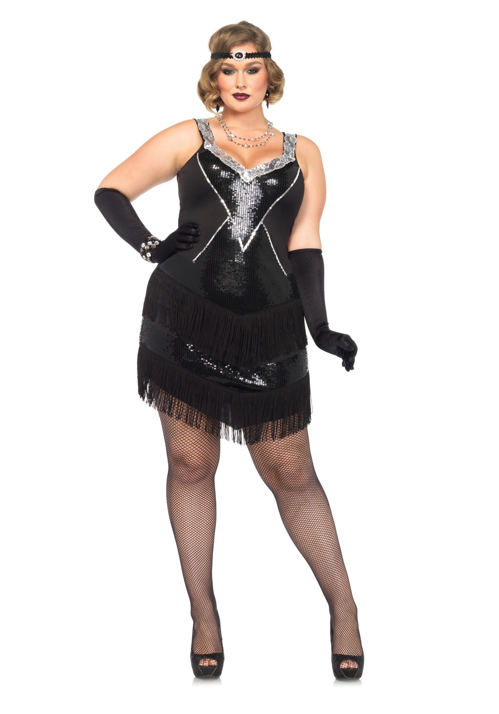 Plus Size Glamour Flapper Costume  sc 1 st  Halloween Costumes : glamorous halloween costume  - Germanpascual.Com
