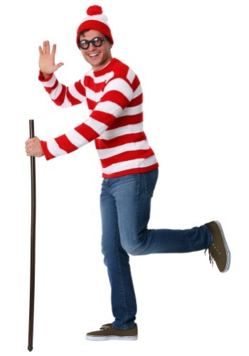 Image of Adult Deluxe Where's Waldo Costume