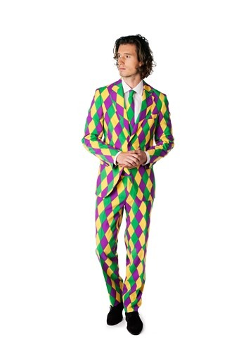 Click Here to buy Mens OppoSuits Mardi Gras Costume Suit from HalloweenCostumes, CDN Funds