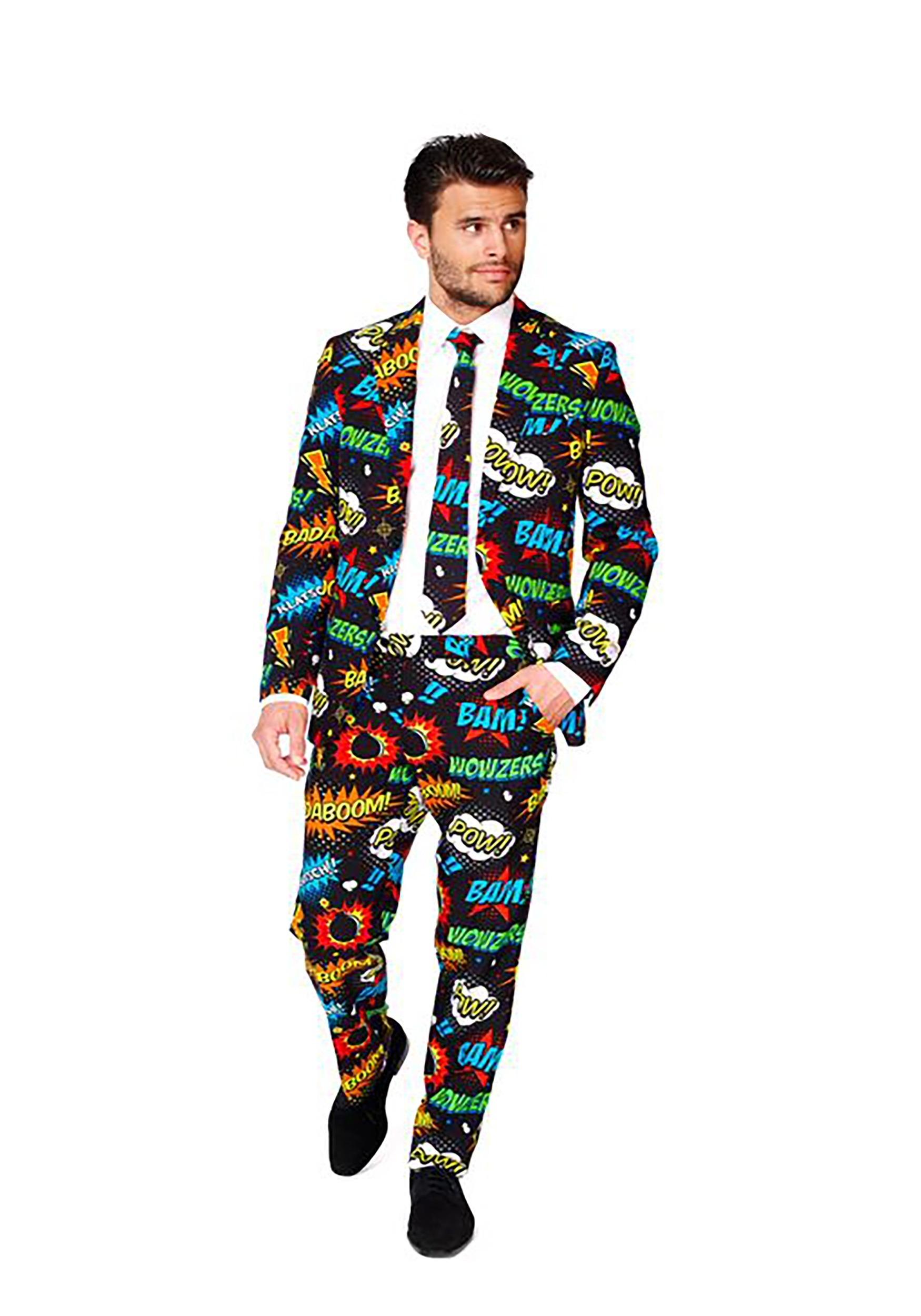 Men S Opposuits Badaboom Comic Suit