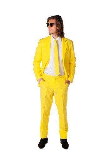 OppoSuits Yellow Suit for Men