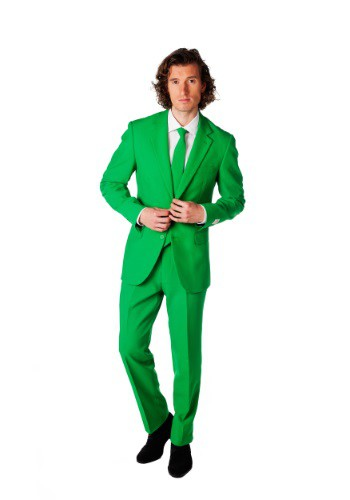 INOpets.com Anything for Pets Parents & Their Pets Men's OppoSuits Green Suit