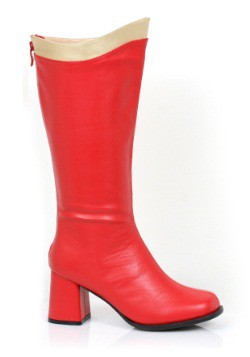 Adult Red and Gold Super Hero Boots