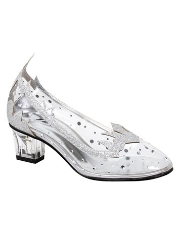 Image of Girl's Silver Glitter Shoes